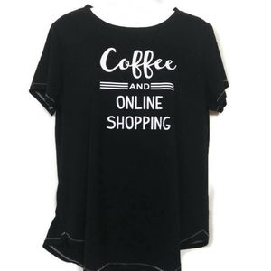 """""""Coffee and online shopping"""" t shirt."""